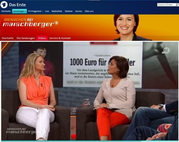 Yvonne Holthaus am 2.6.2015 zu Gast bei Maischberger_ARD